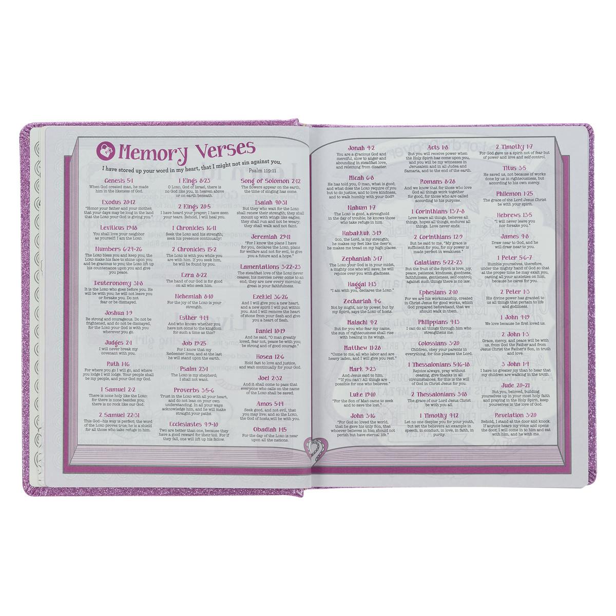 My Creative Bible For Girls Journaling Bible Esv Purple Glitter Hardcover