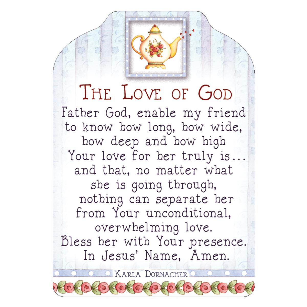 Friendship Card With Envelope: The Love Of God   Karla Dornacher