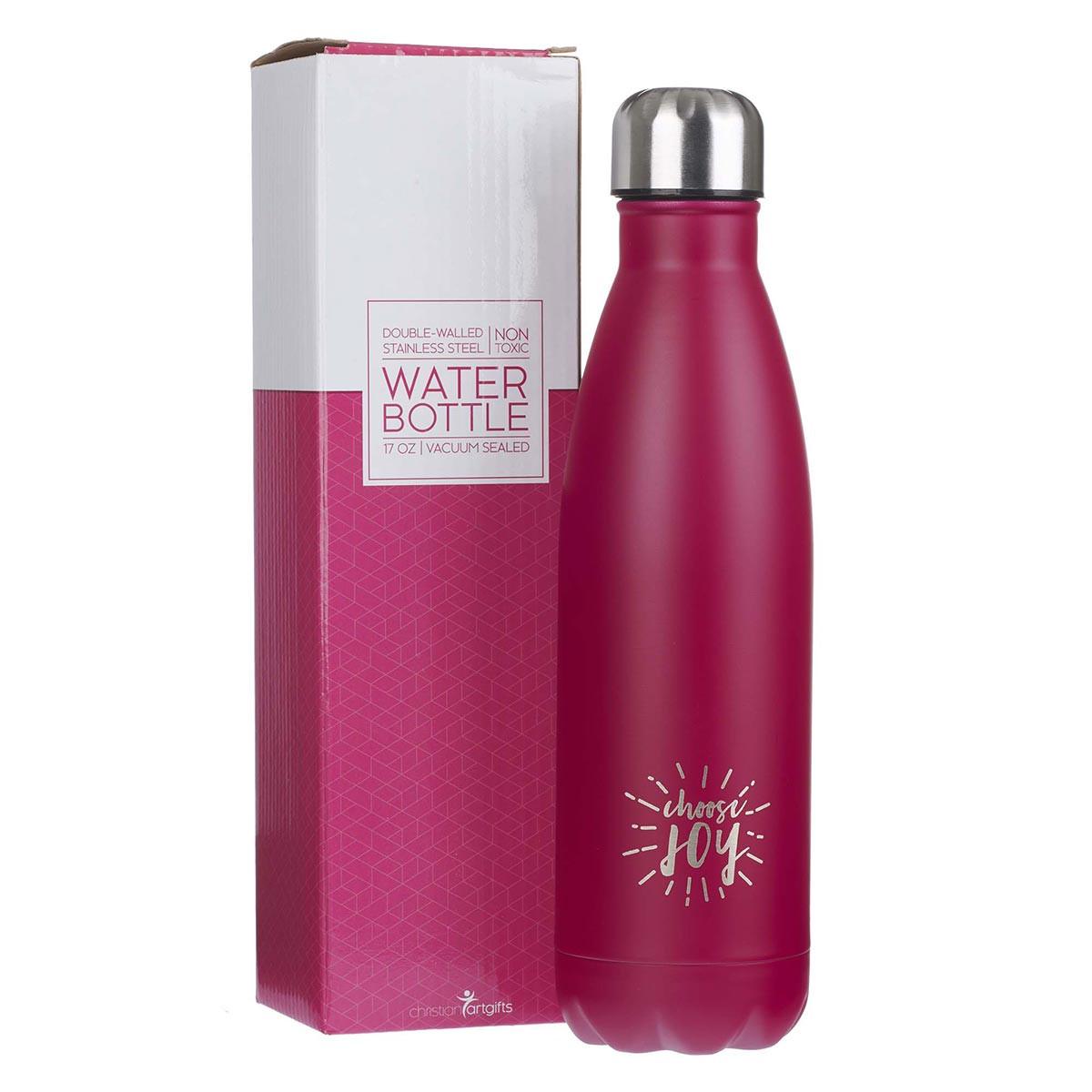 Water Bottle In Spanish: Stainless Steel Water Bottle: Choose Joy In Pink