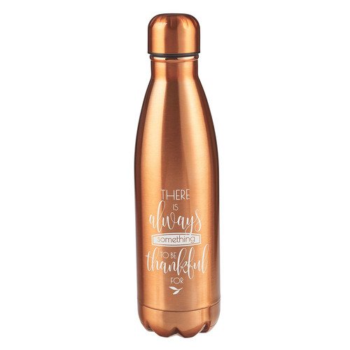 Grateful in Bronze Stainless Steel Water Bottle