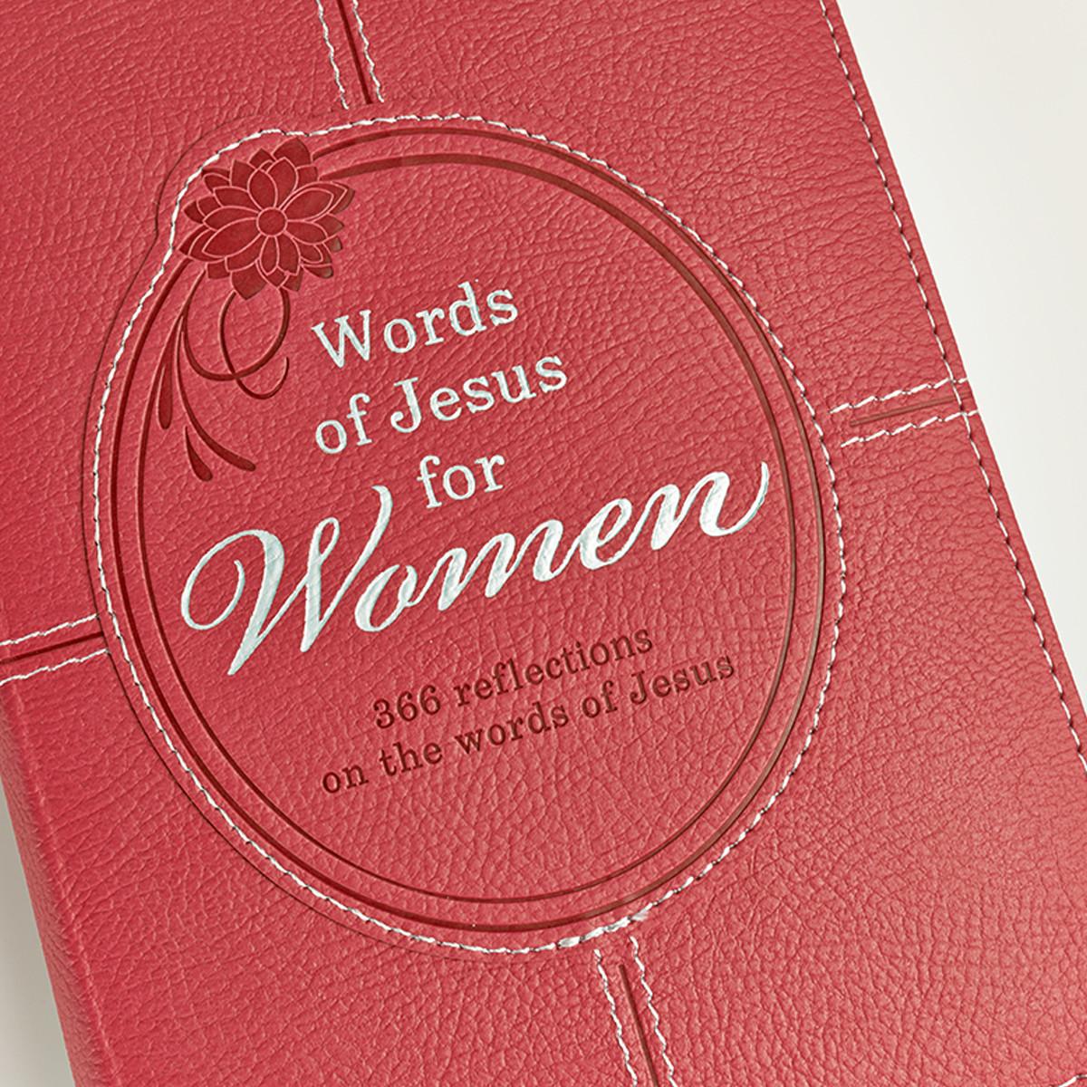 Words of Jesus for Women LuxLeather Edition Devotions