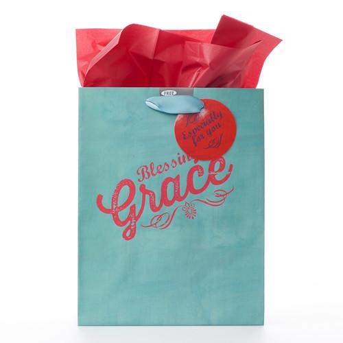 Medium Gift Bag: Retro Collection: Grace - 1 Tim 1:14