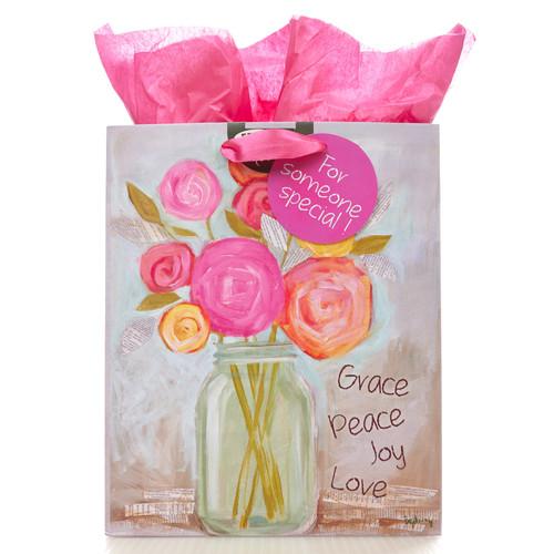 Medium Gift Bag: Grace, Peace, Love, Joy