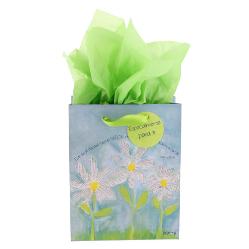 Bolsa de regalo pequeña Margaritas blancas, Sal. 118:24