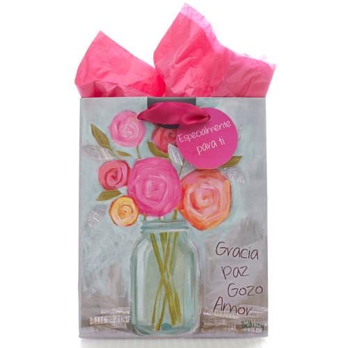 Bolsa de regalo pequeña Gracia, paz, gozo y amor
