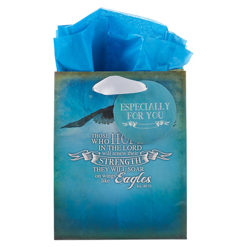 On Wings Like Eagles - Is 40:31 Small Gift Bag