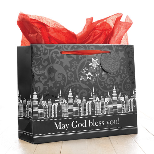 Large Christmas Gift Bag: May God Bless You - Luke 2:11