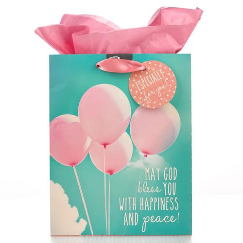 Medium Gift Bag: May God Bless You - Rom 15:13