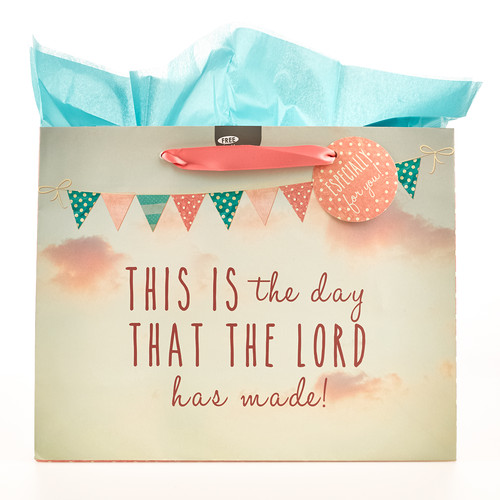 This is the Day - Ps 118:24 Large Gift Bag