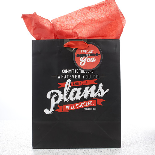 Medium Gift Bag: Commit to the Lord - Prov 16:3