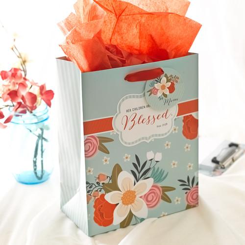 Medium Gift Bag: Blessed - Prov 31:28