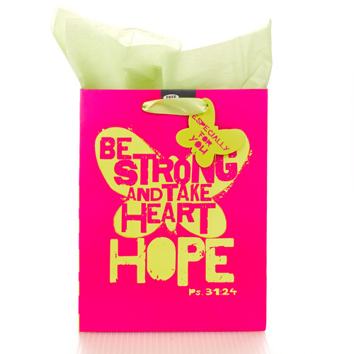 Medium Gift Bag: Hope - Ps 31:24