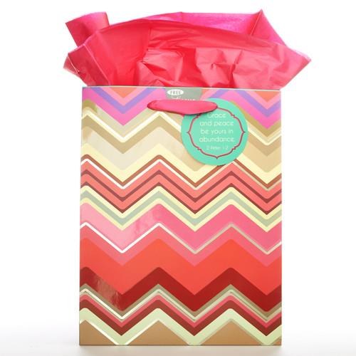 Medium Gift Bag Chic Chevron - 2 Pet 1:2