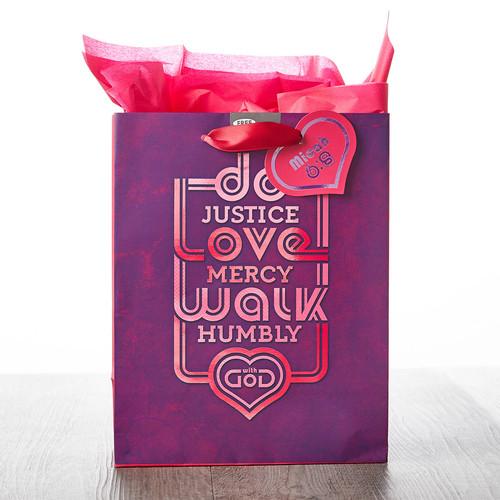 Medium Gift Bag: Do Justice, Love Mercy, Walk Humbly - Micah 6:8