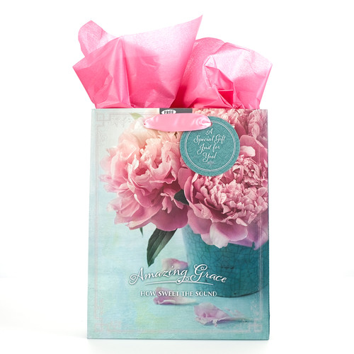 Medium Gift Bag: Amazing Grace with Peonies