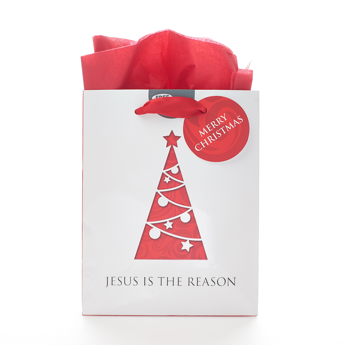 Small gift bag jesus is the reason in red christian art gifts negle Gallery