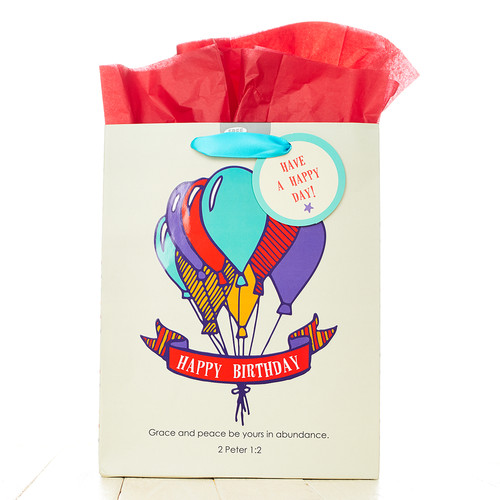 Medium Gift Bag: Happy Birthday - 2 Pet 1:2