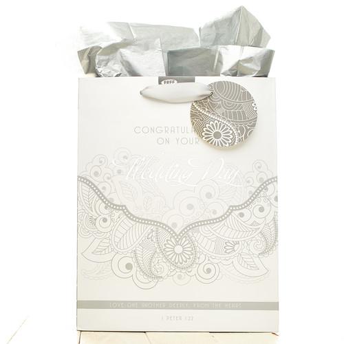 Medium Wedding Gift Bag : Wedding Day - 1 Pet 1:22