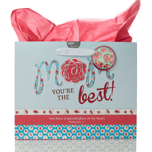 Large Gift Bag: Mom You're the Best - Phil 1:7