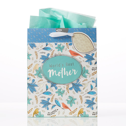 Worlds Best Mother - Proverbs 31:28 Medium Gift Bag
