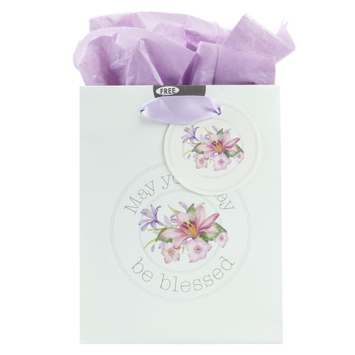 Blessings from Above: May Your Day Be Blessed - Jeremiah 17:7 Small Gift Bag