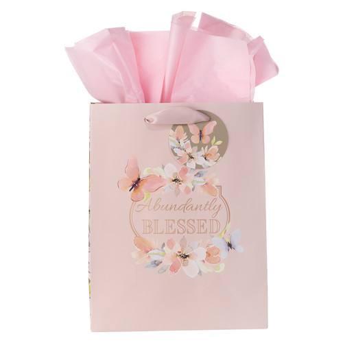 Abundantly Blessed Medium Gift Bag - Deuteronomy 7:13