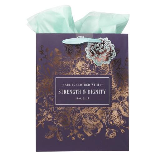 Strength and Dignity - Proverbs 31:25 Medium Gift Bag