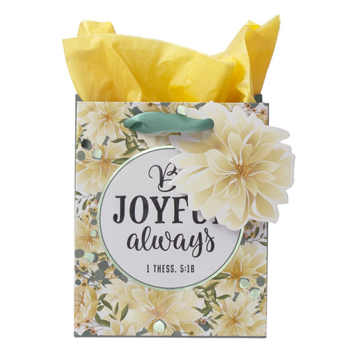 Be Joyful Always Extra Small Gift Bag – 1 Thessalonians 5:16