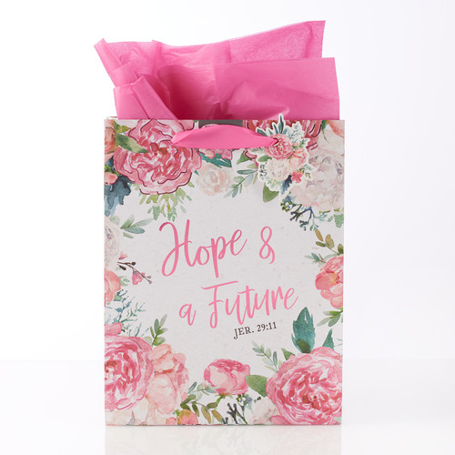 Hope & a Future Floral Medium Gift Bag – Jeremiah 29:11