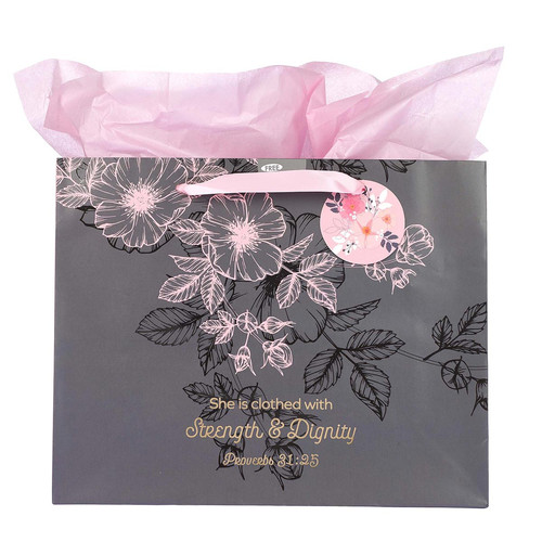 Large Landscape Gift Bag: Strength and Dignity -