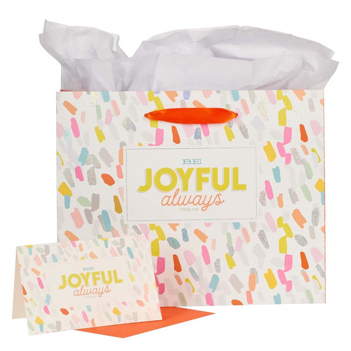 Always Joyful Large Gift Bag - 1 Thessalonians 5:16