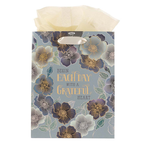 Begin Each Day With A Grateful Heart Medium Gift Bag