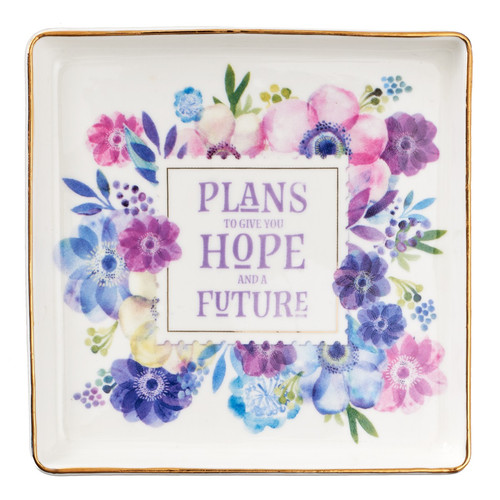 Hope and Future Trinket Tray - Jeremiah 29:11
