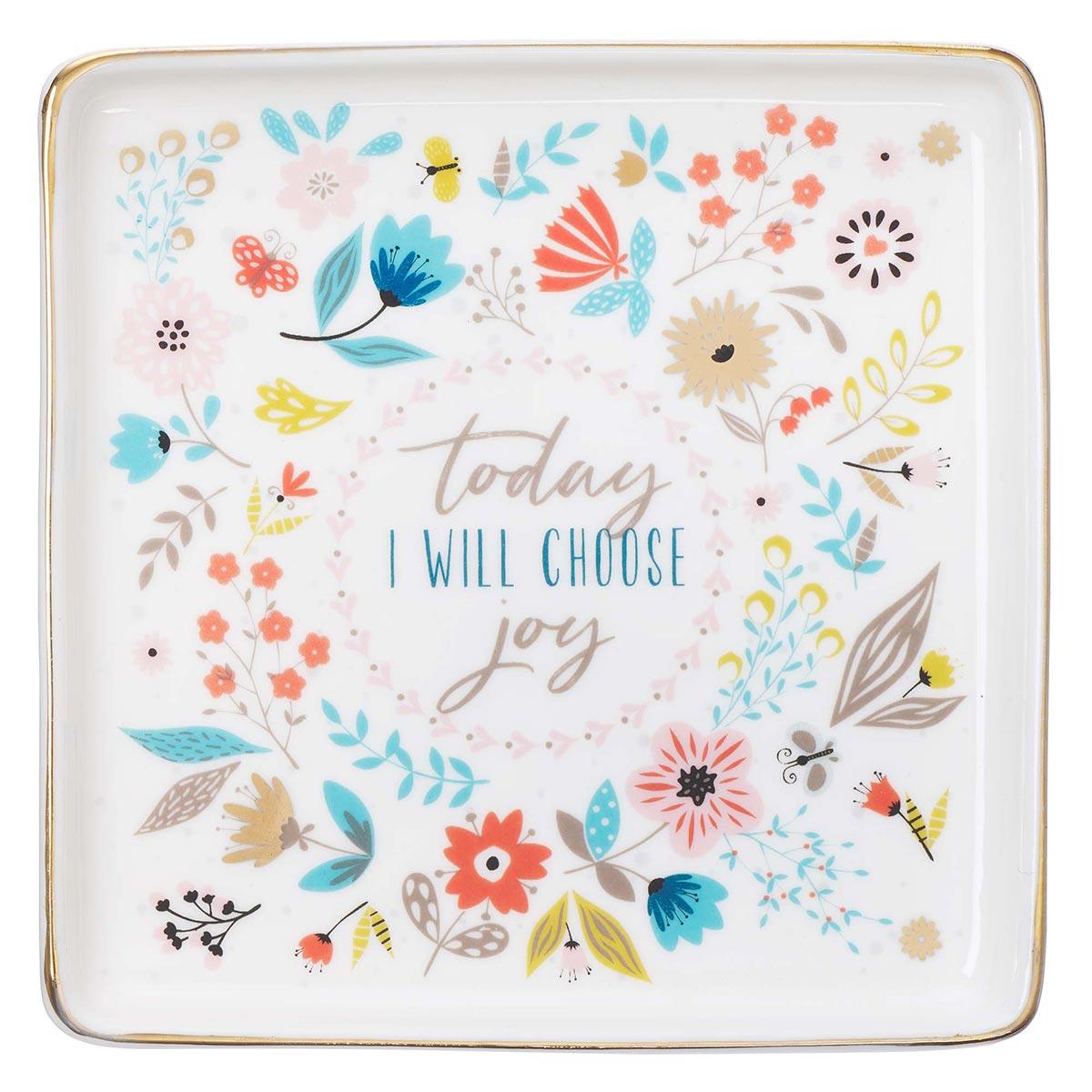 Choose Joy Trinket Tray