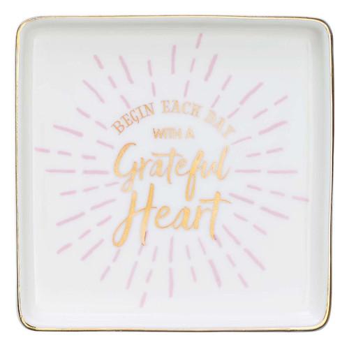 Grateful Heart Ceramic Trinket Tray
