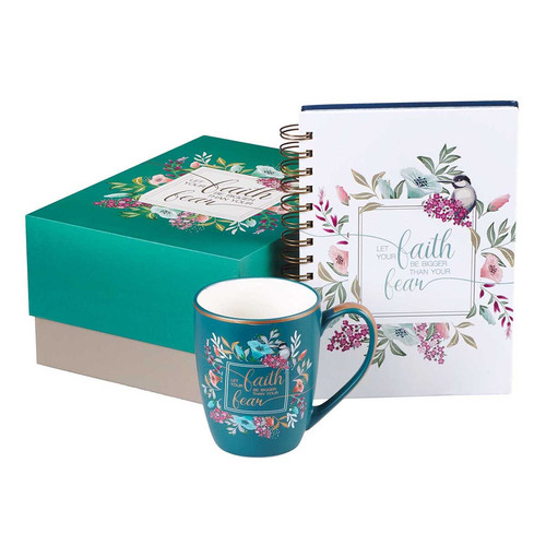 Let Your Faith Be Bigger Than Your Fear Boxed Gift Set for Women