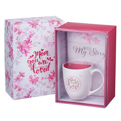 Mothers Day Prompted Journal and Mug Boxed Gift Set for Women
