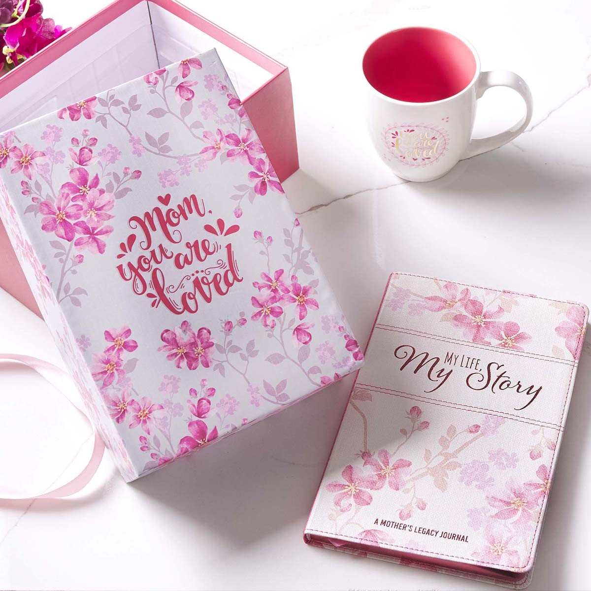 Mother S Day Prompted Journal And Mug Boxed Gift Set For Women