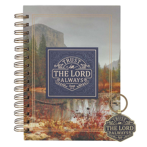 Trust in the LORD Journal and Keyring Boxed Gift Set - Isaiah 26:4