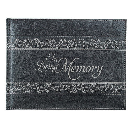 In Loving Memory Charcoal Guest Book