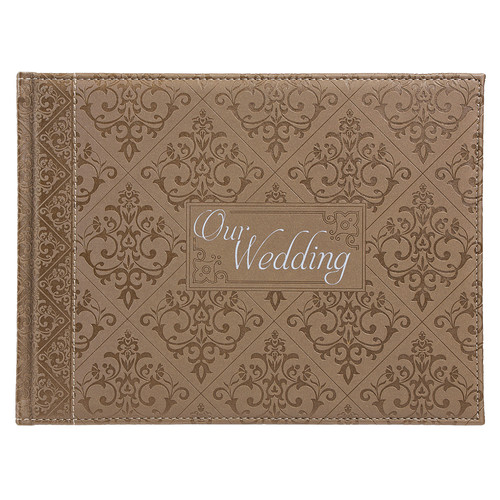 Gold Silken Our Wedding Guest Registry Book
