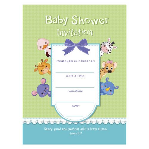 Baby Shower Invitation-Lulla James 1:17