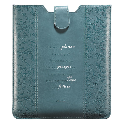 Teal Inspirational Tablet Case / Sleeve - Jeremiah 29:11