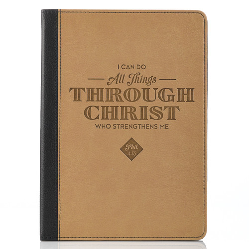 All Things Through Christ Two-tone Inspirational Tablet Cover-Philippians 4:13(Fits iPad®Air)