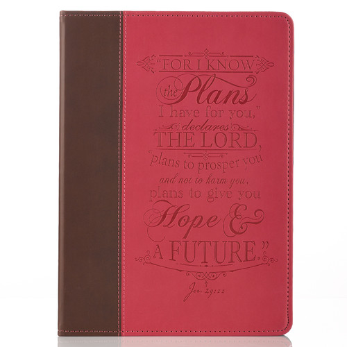 I Know the Plans Pink & Brown Inspirational Tablet Cover - Jeremiah 29:11 (Fits iPad® Air)