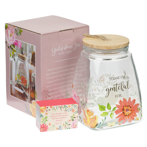 Today Im Grateful For... Glass Gratitude Jar with Cards