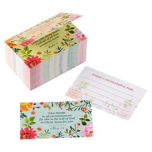 Today Im Grateful For Orange Daisy Gratitude Jar Refill Card Pack