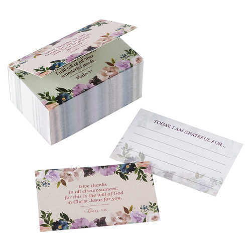 Me and My House Purple Floral Gratitude Jar Refill Card Pack
