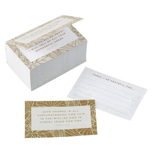 Grateful Gold and White Gratitude Jar Refill Card Packs