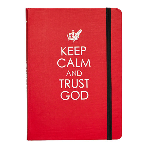Keep Calm and Trust God Medium Hardcover Journal